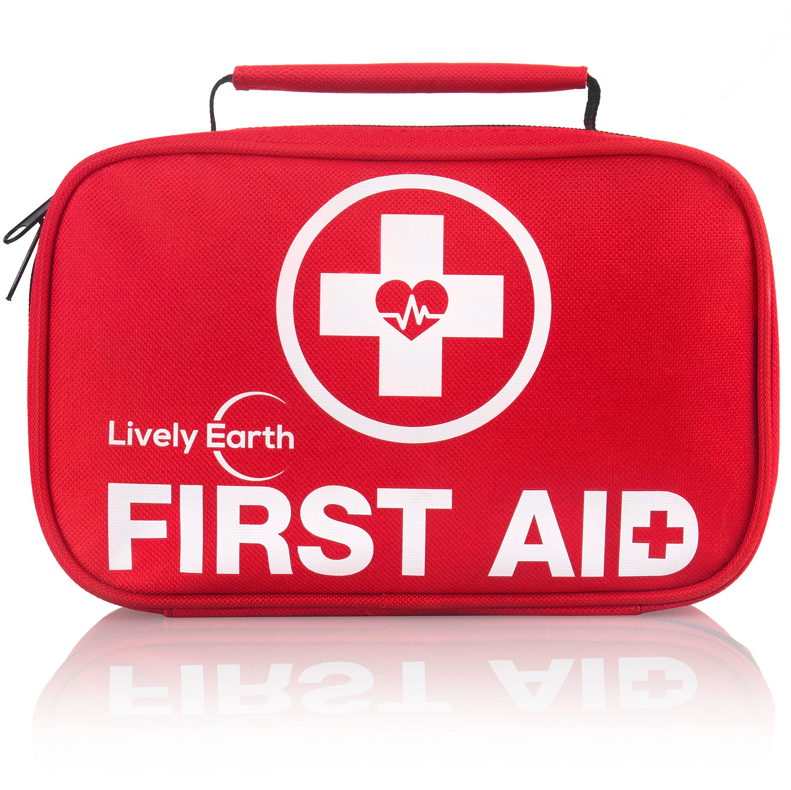 Lively Earth Emergency First Aid Kit for Car, Home, Camping or Travel - Emergency Medical Kits and Supplies for Disaster Preparedness - Security for Your Family