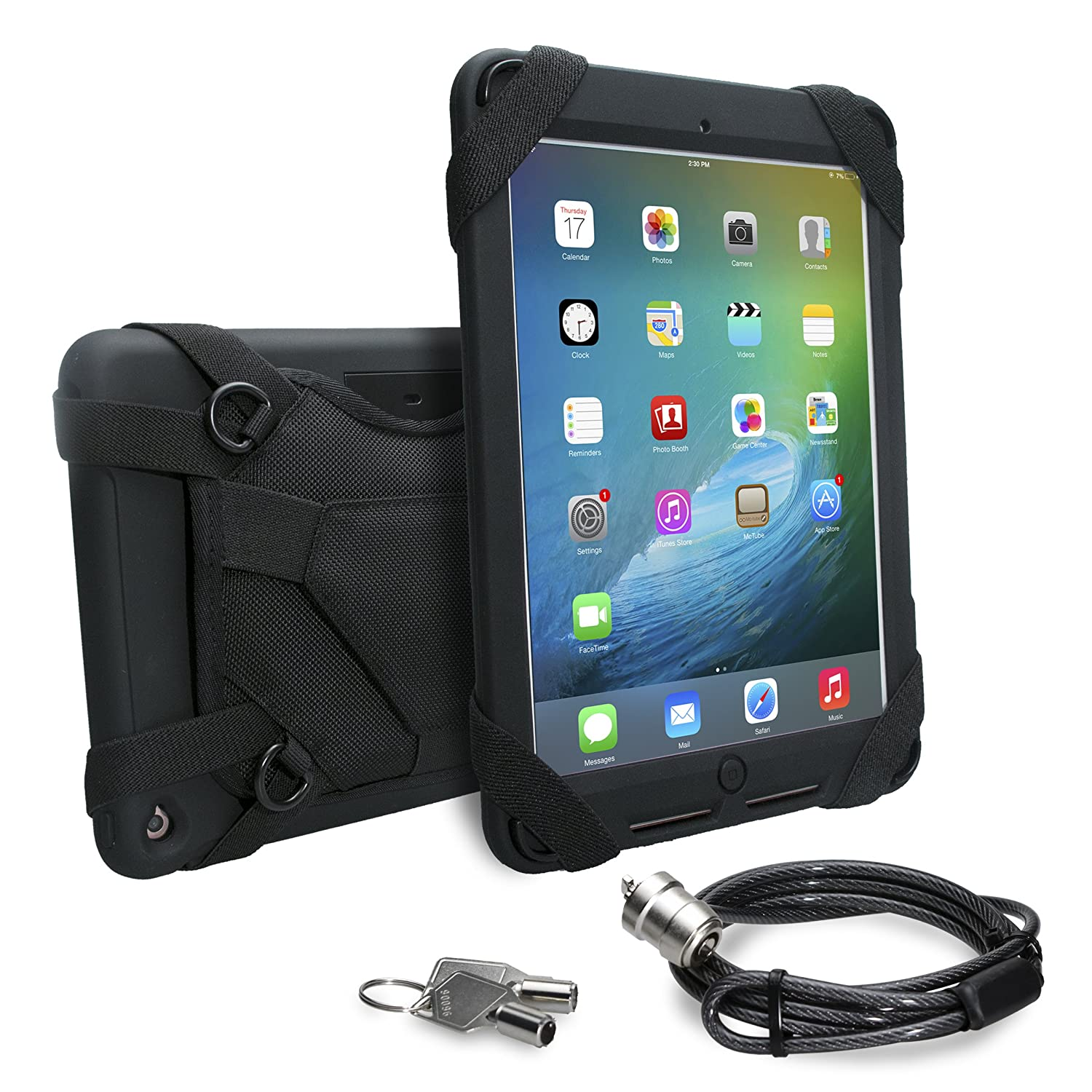 CTA Digital Security Carrying Case with Anti-Theft Cable for iPad Pro 9.7 and iPad Air 2 (PAD-SCC)