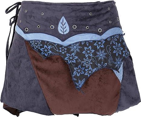 GURU-SHOP - Falda de algodón para Mujer, diseño de Elfos Azul ...