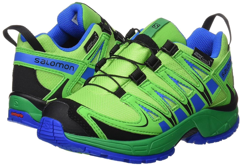 Salomon XA Pro 3D CSWP K, Zapatillas Unisex Bebé, Verde (Tonic Green/Athletic Green X/Union Blue), 28 EU