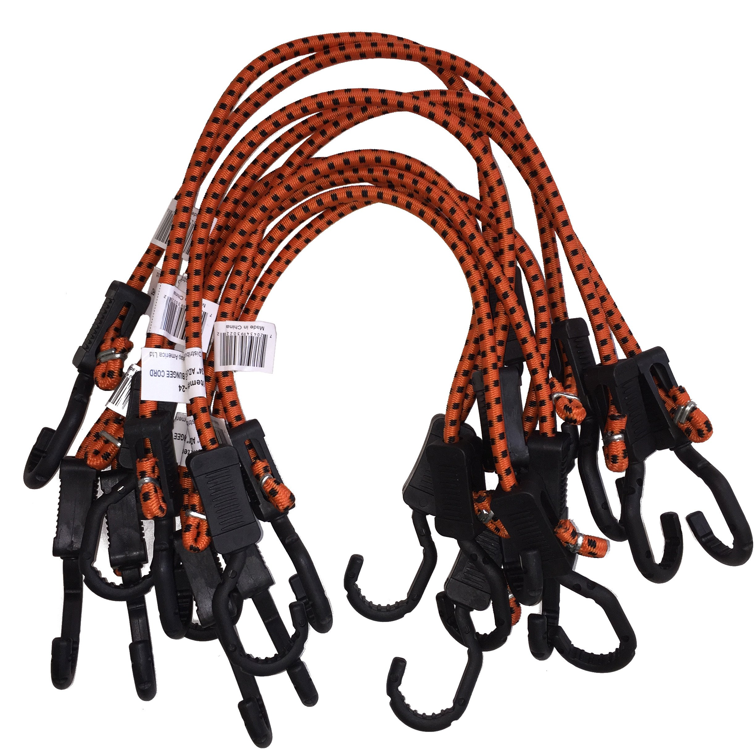 Kotap Adjustable 24-Inch Bungee Cords, 10-Piece, Item: MABC-24 by Kotap