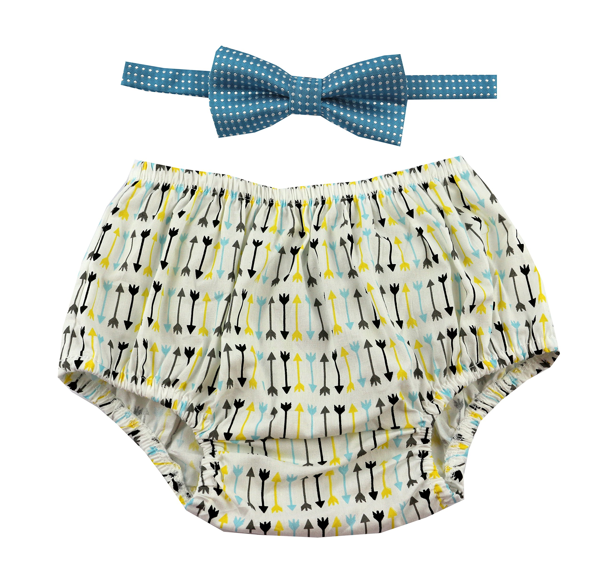 Gentlemen Ties Cake Smash Outfit Boy First Birthday Includes Bloomers And Bow Tie Multicolor Arrows