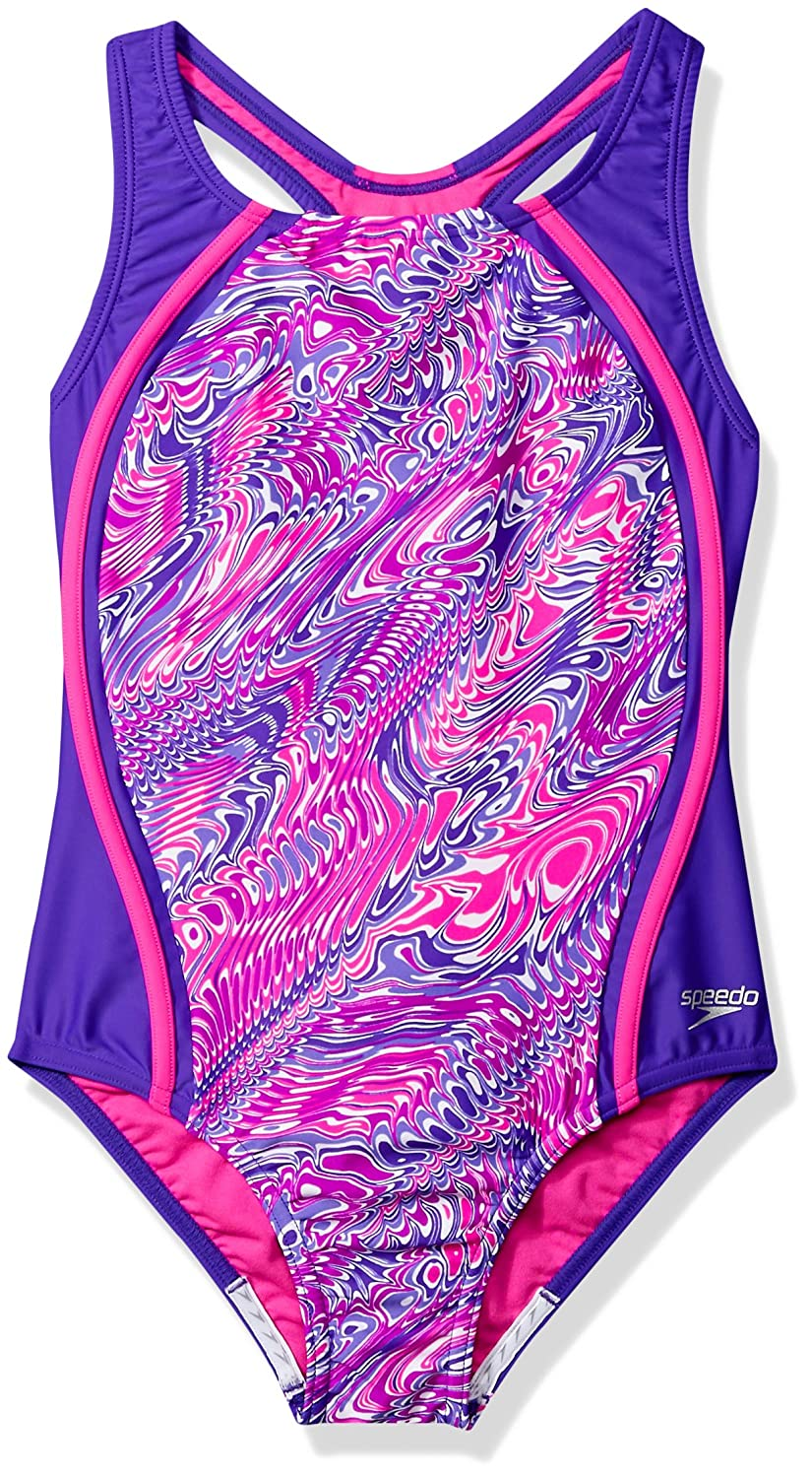 Speedo Printed Sport Splice One Piece Swimsuit Speedo Swimwear 7714721-P