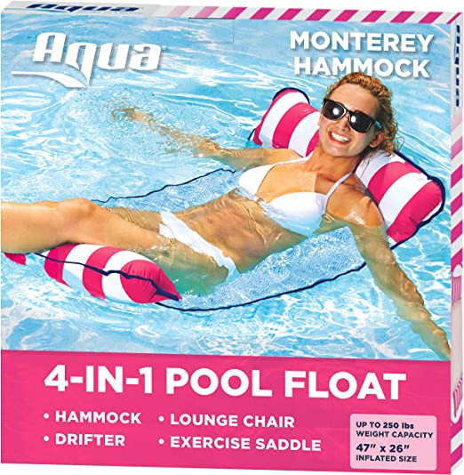 Aqua 4-in-1 Monterey Hammock Inflatable - Top Pick Best Inflatable Air Hammock