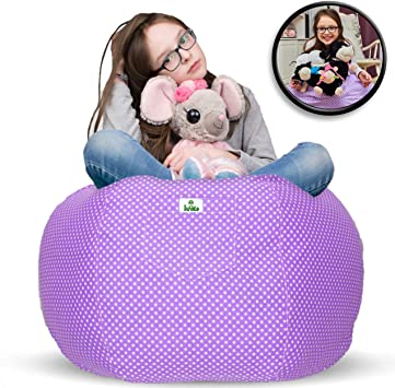Large Stuffed Animal Toy Storage Bean Bag Cover Kid Bean Cover Soft Seat 34*30*5