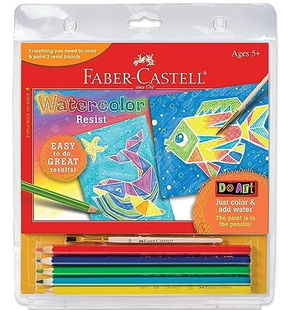 amazon com faber castell children s do watercolor art resist kit
