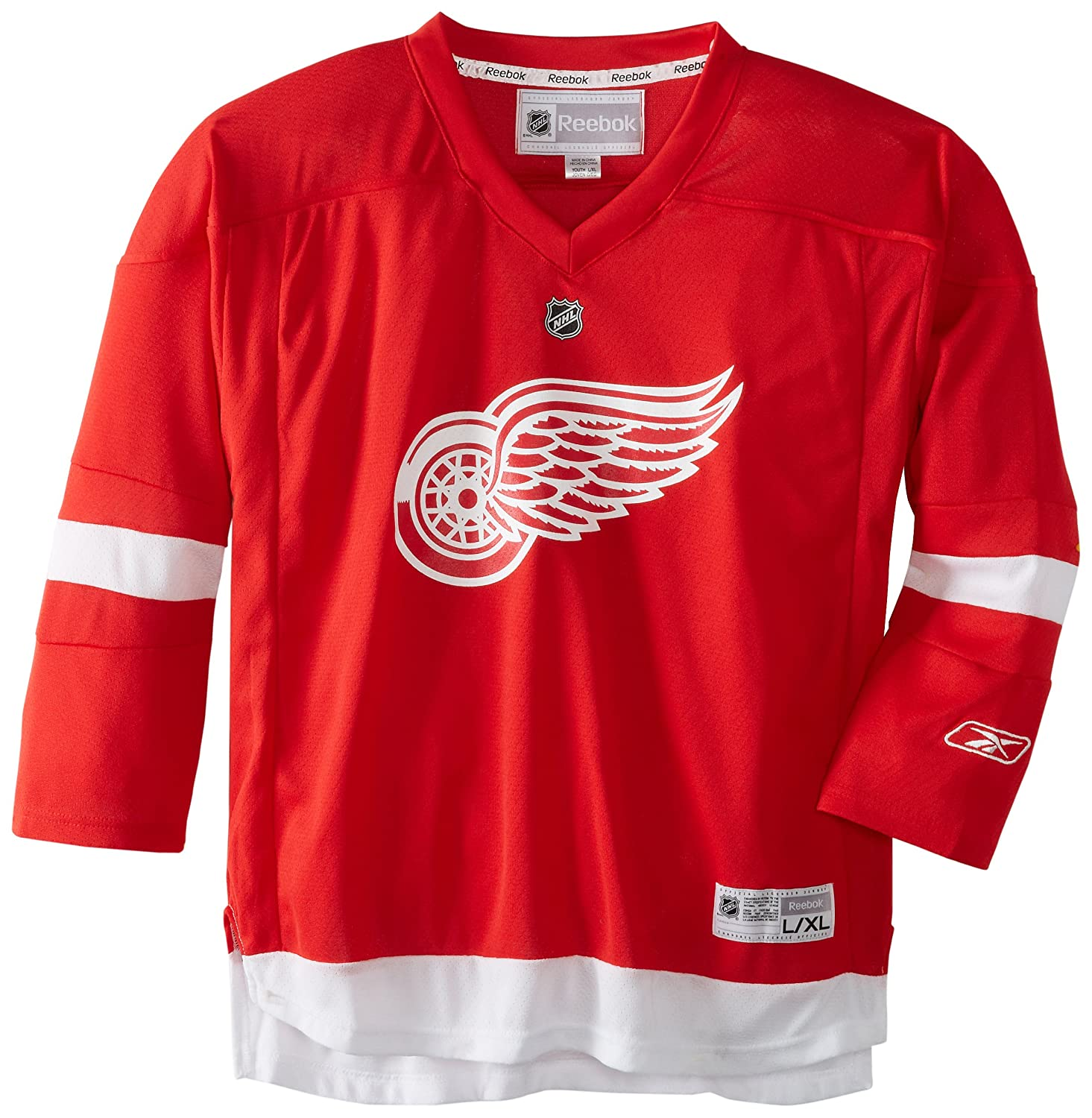 NHL Detroit Red Wings Team Color Replica Jersey Youth Large/X-Large Reebok 58HWB
