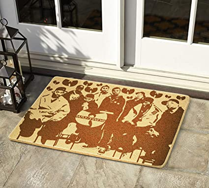 f1ce321e1095e Amazon.com : Wu Tang Clan 24x16 inch Doormat Engraved Indoor Outdoor ...