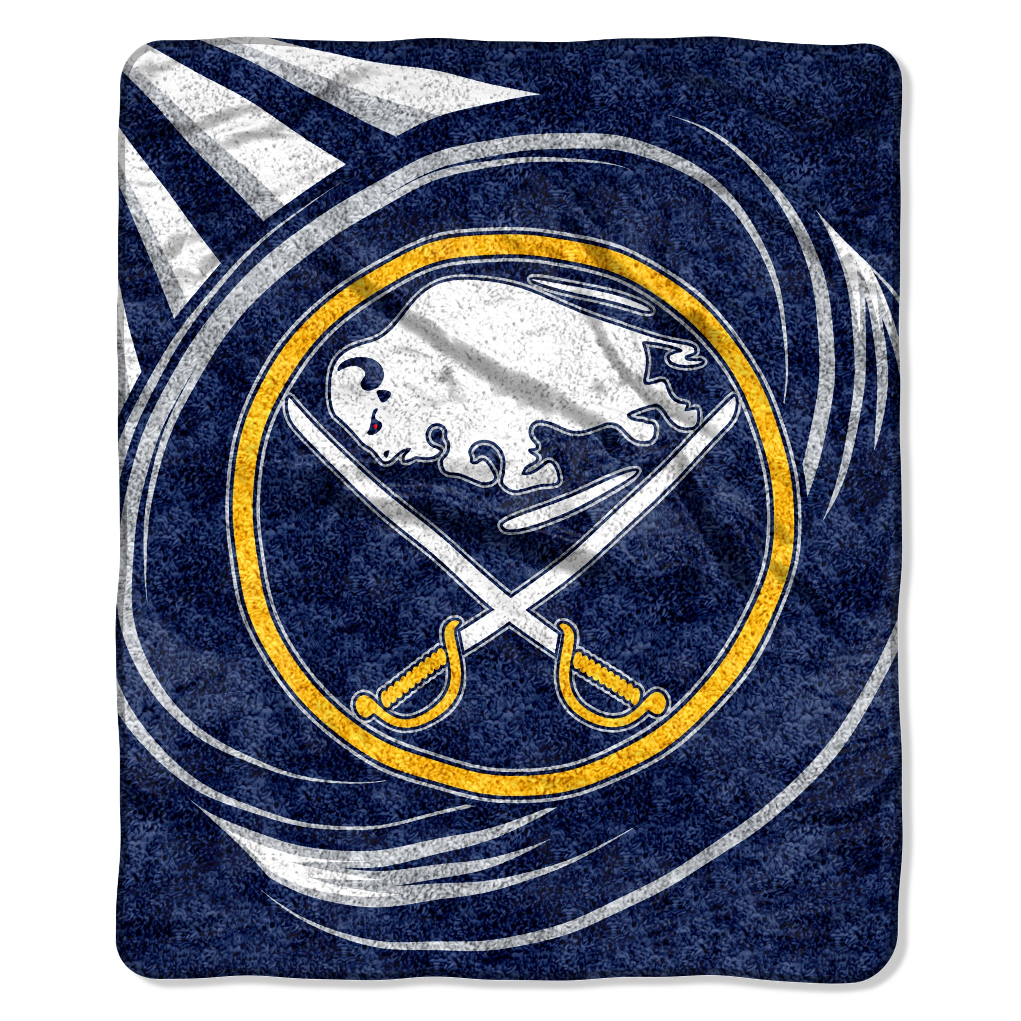 The Northwest Company Officially Licensed NHL Buffalo Sabres Puck Sherpa on Sherpa Throw Blanket, 50'' x 60'', Multi Color by The Northwest Company