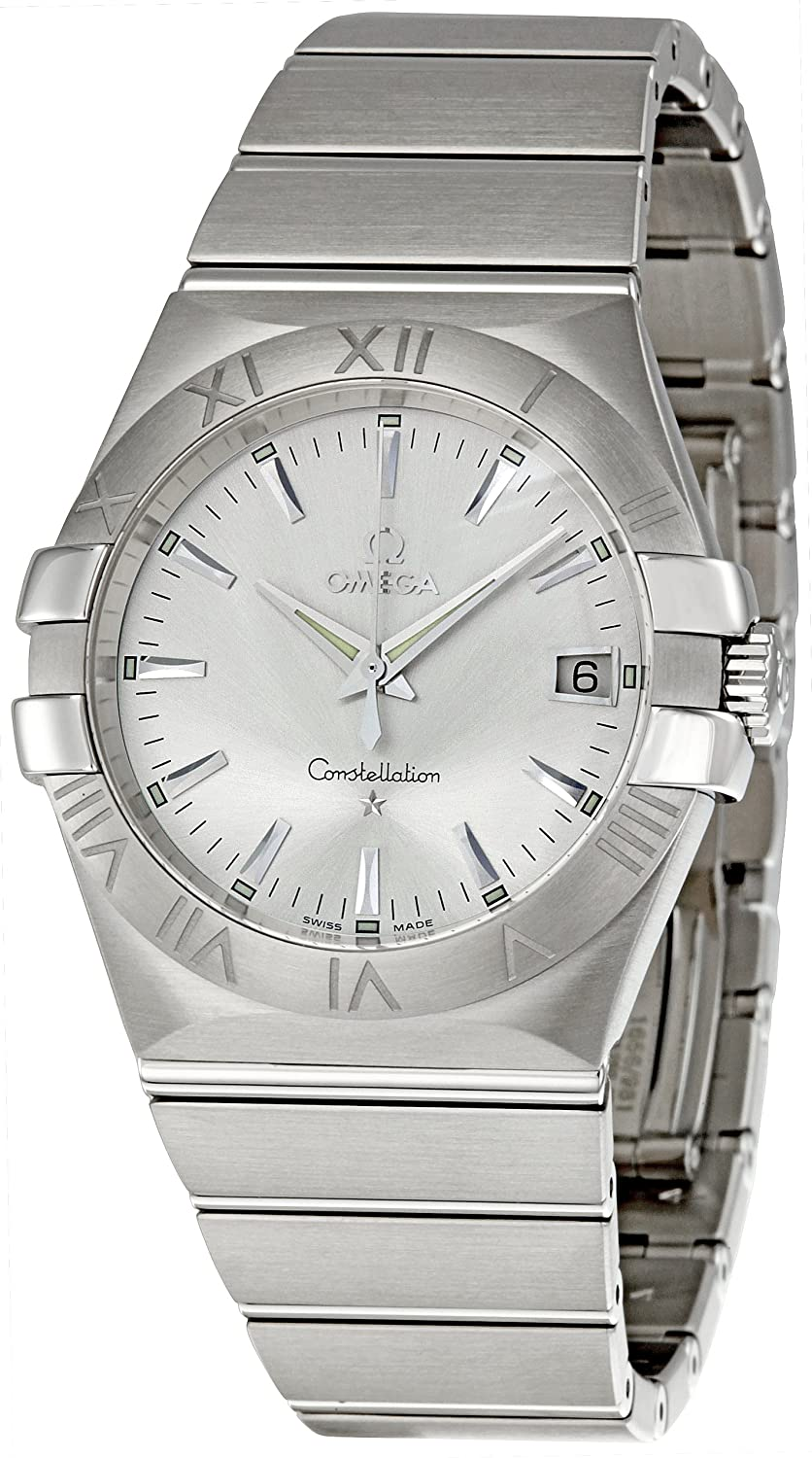 e37d7b8d6f7 Buy Omega Men s 123.10.35.60.02.001 Constellation 09 Silver Dial Watch  Online at Low Prices in India - Amazon.in