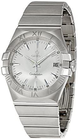 eb18ab810978a Amazon.com  Omega Men s 123.10.35.60.02.001 Constellation 09 Silver ...