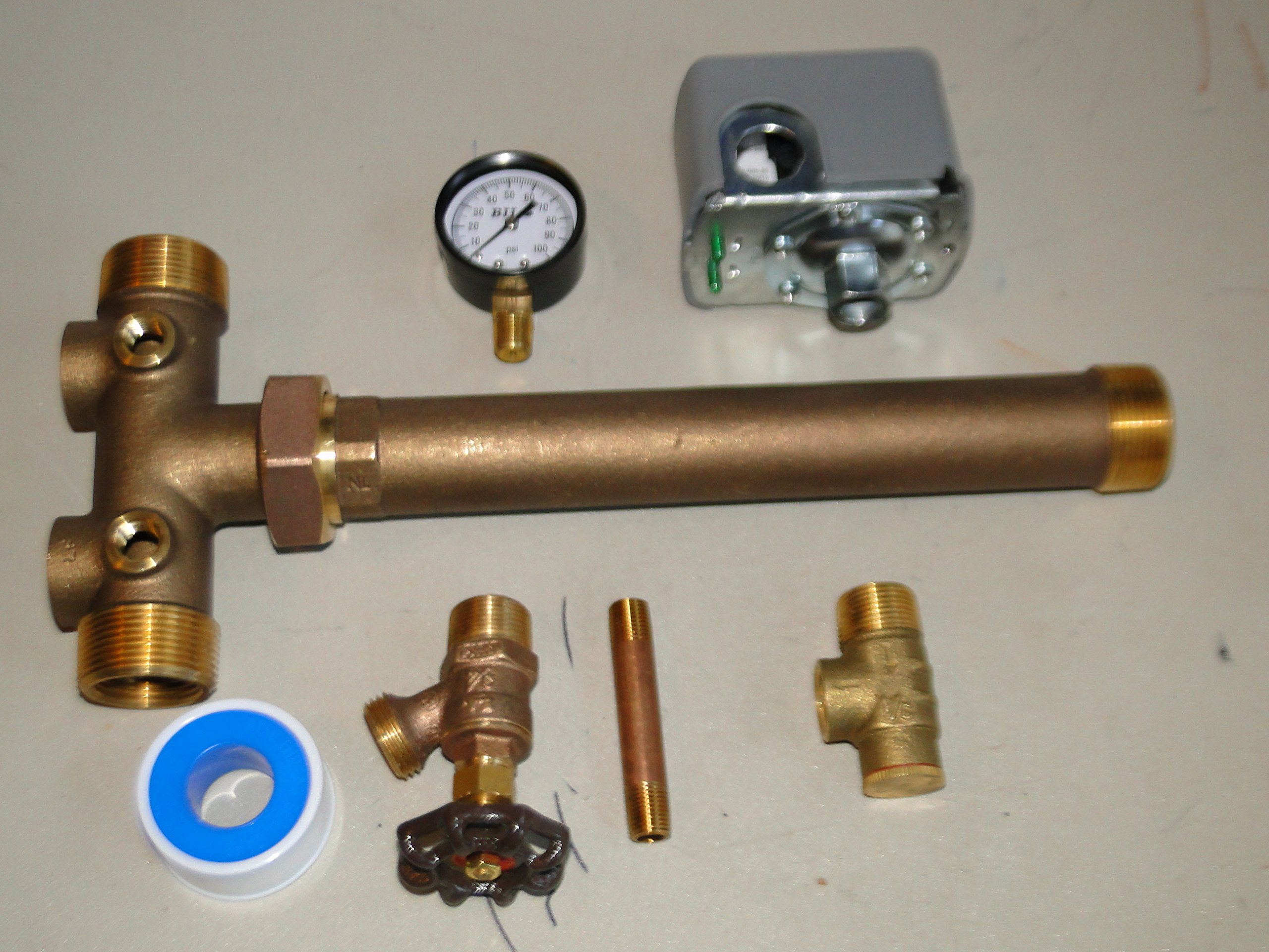 1.25 x 14 Tank Tee Kit with UNION Installation Water Well Pressure Tank SQUARE D 30/50 FSG2 pressure switch NO LEAD