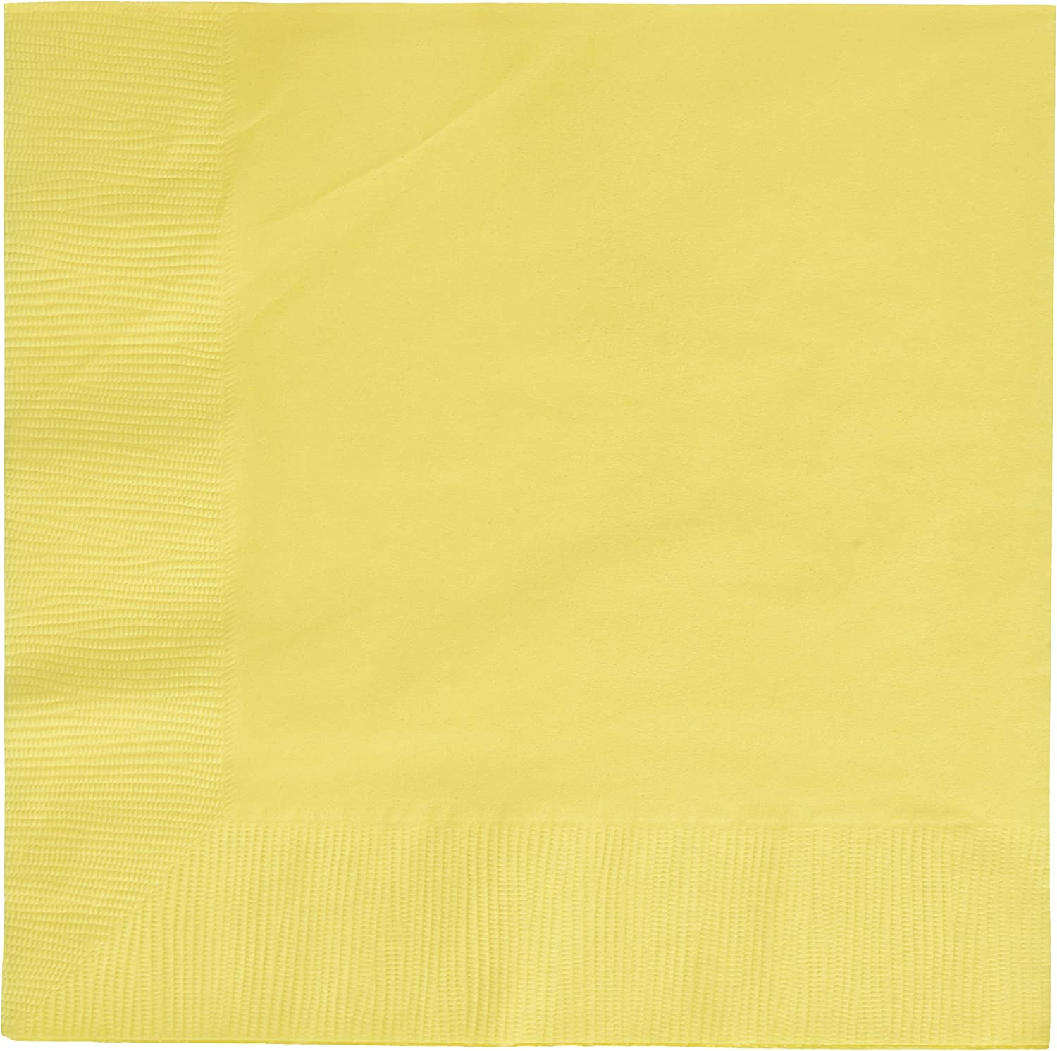 Light Yellow 3-Ply Dinner Napkins | Pack of 20 | Party Supply