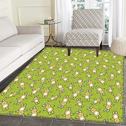 Amazon Com Anime Rugs For Bedroom Kids Toy Rabbits Pattern On A