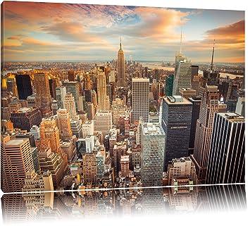 Skyline Von New York Format: 120x80 Auf Leinwand, XXL Riesige Bilder Fertig  Gerahmt Mit