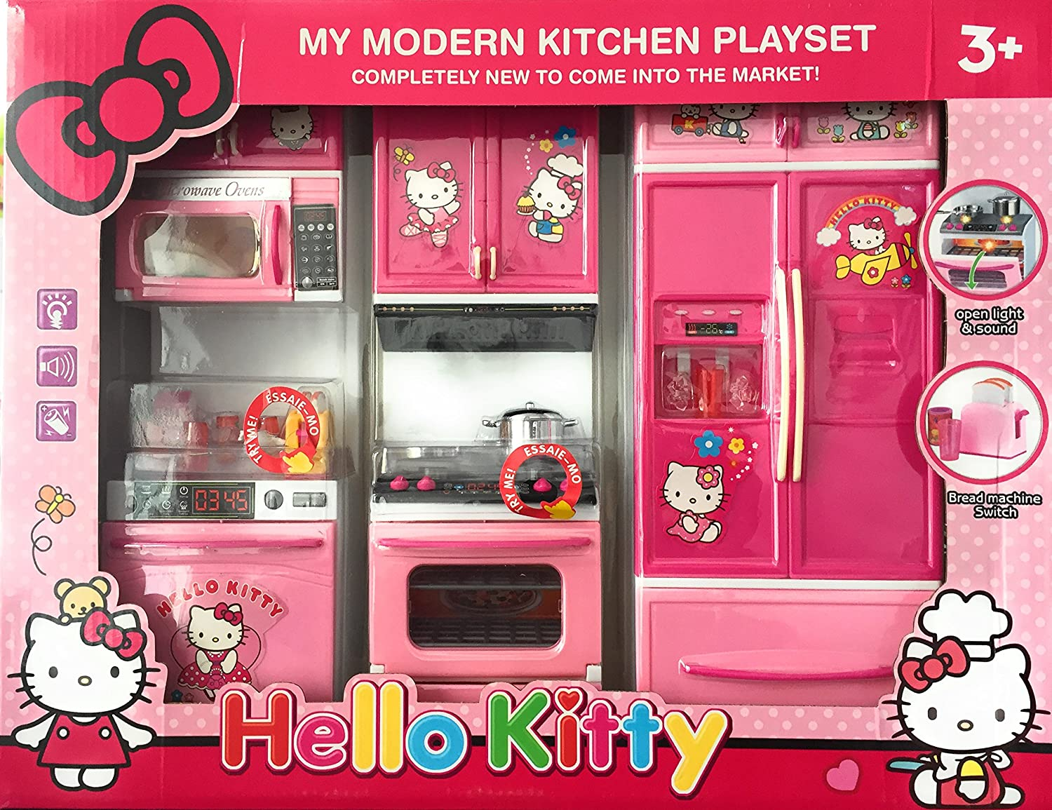 612c135f3 Buy BABY N TOYYS Hello Kitty Modern Kitchen Play Set with Refrigerator Cook  Top (Pink) Online at Low Prices in India - Amazon.in