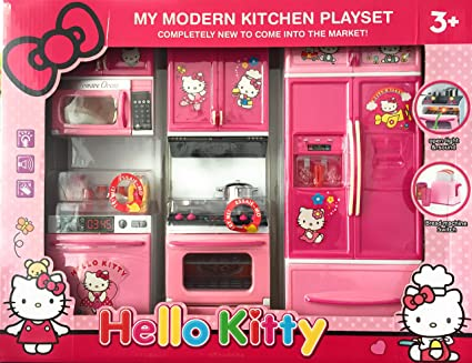 Buy Baby N Toyys Hello Kitty Modern Kitchen Play Set With
