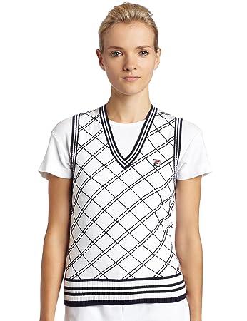 Fila Damen Pullover Weste, Damen, White/Peacoat: Amazon.de: Sport ...