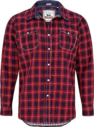 Lonsdale Hemd St Just-Camiseta de manga larga Hombre rojo ...