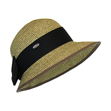 5fdf922e Straw Packable Sun Hat with Brown at Amazon Women's Clothing store: