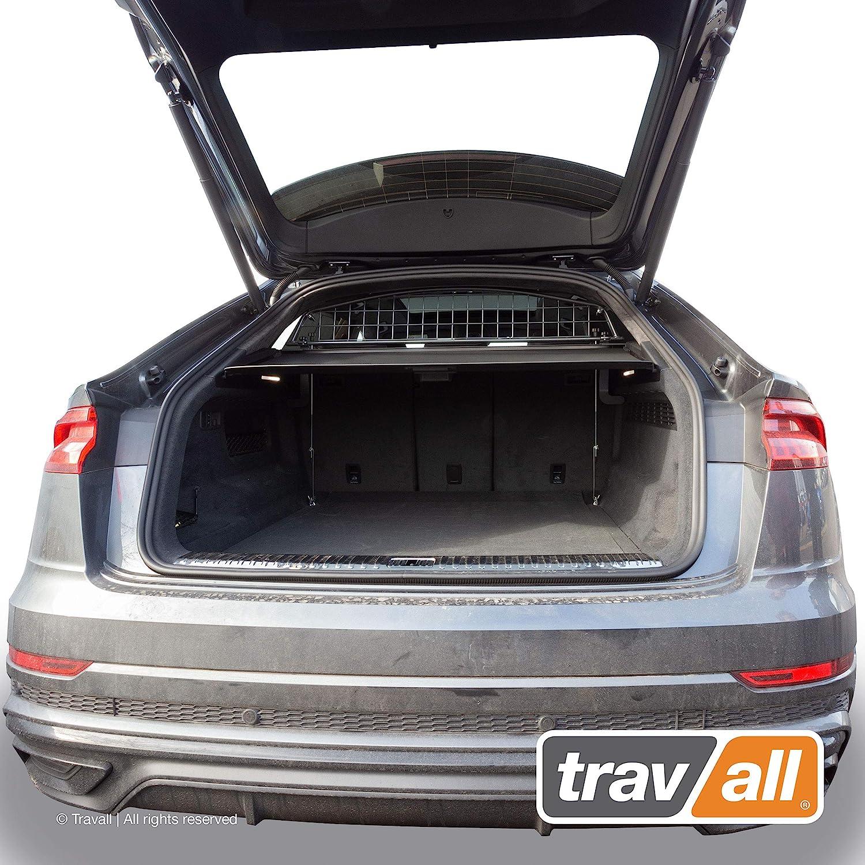 Travall Protector Compatible with Audi Q8 Ridged Plastic Rear Bumper Protector TBP1154P 2018-Current