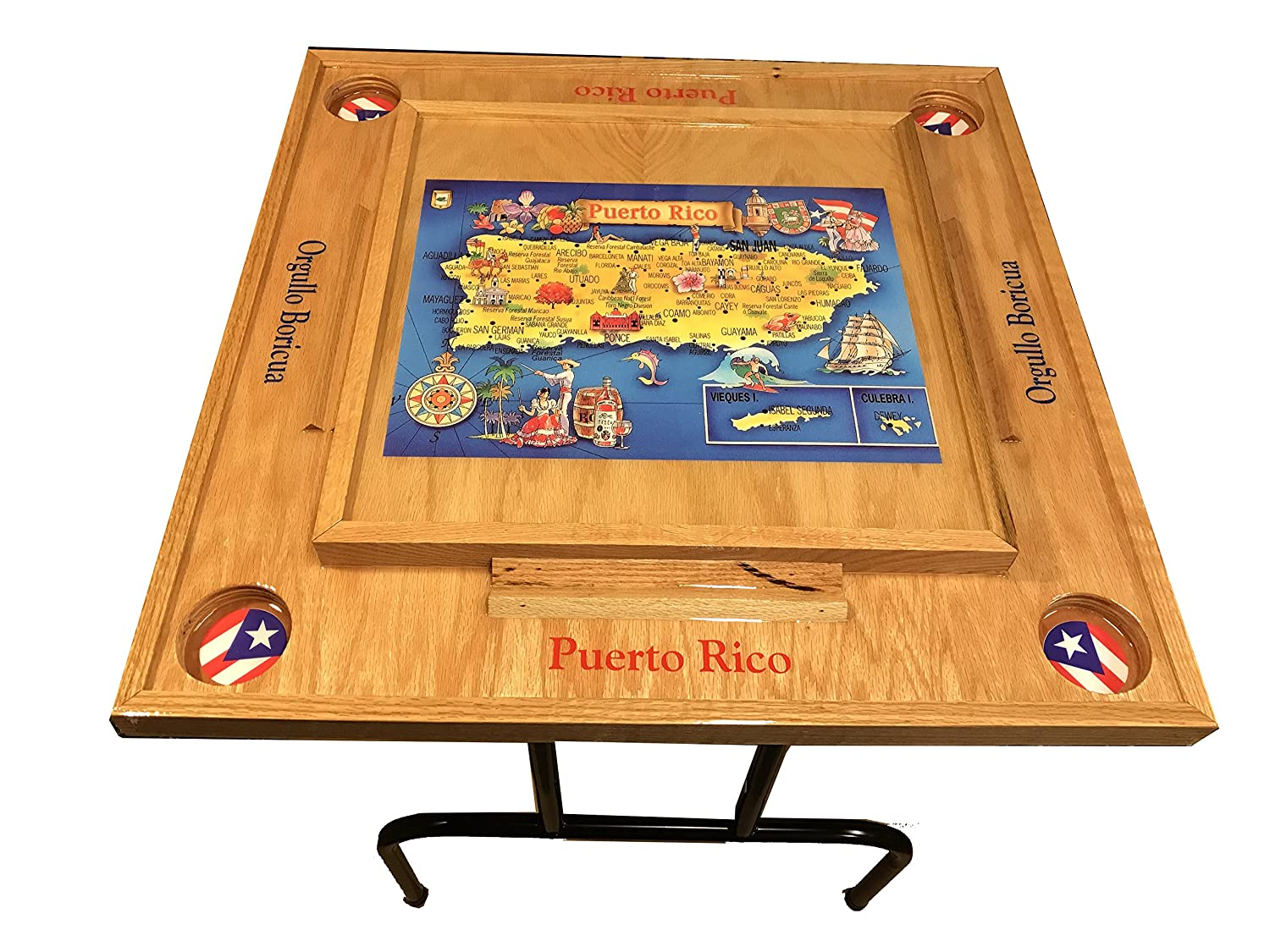 Puerto Rico Domino Table with the Map latinos R us