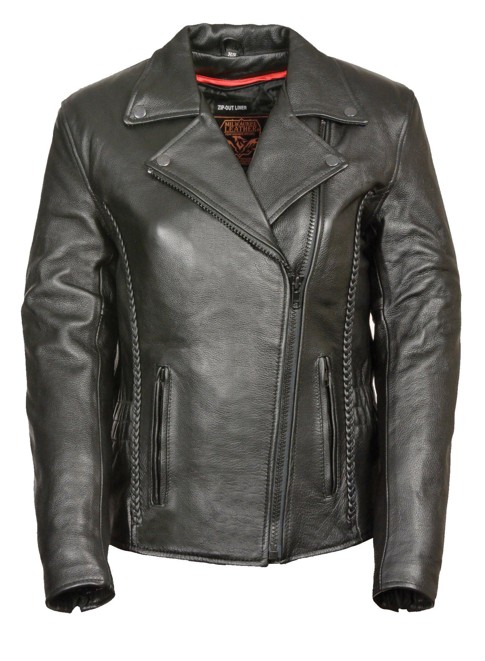 First Manufacturing Women's Blacked Out Hourglass Leather Jacket. FIL103NOCZ by The Milwaukee