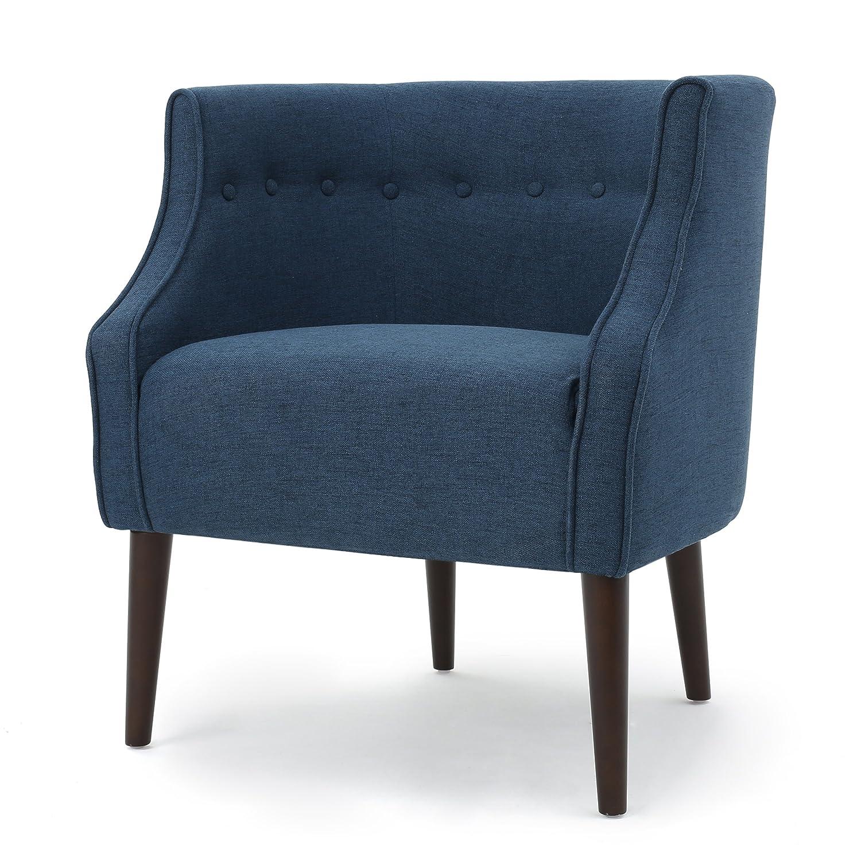 Amazon.com: Davidson Tub Design Upholstered Accent Chair (Navy Blue ...