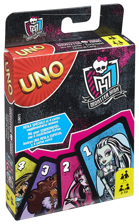 Amazoncom Mattel Games Uno Monster High Mattel Toys Games