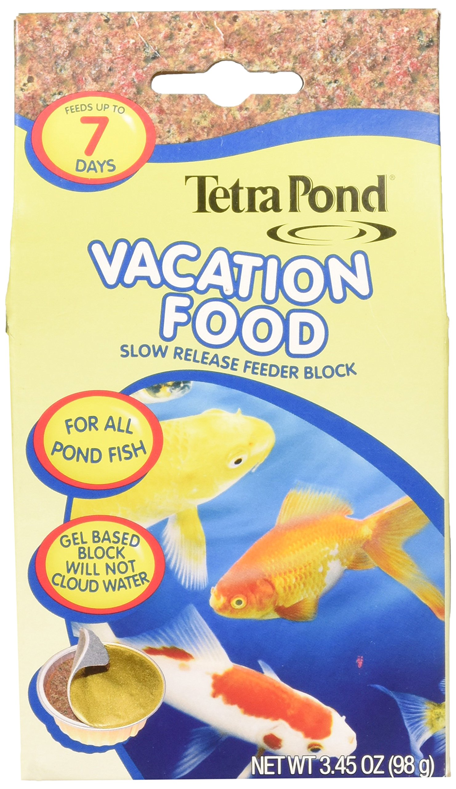 (4 Pack) TetraPond Vacation Food Slow Release Feeder Block, 3.45 Ounce Each by Tetra Pond