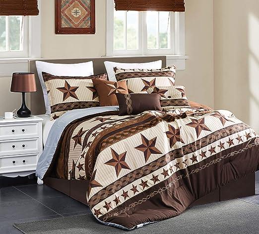 Amazon.com: Linen Mart Rustic Lodge Western Cabin Comforter Set