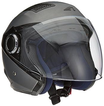 Astone Helmets fibra, Casco Jet, color Matt Gun Metal, talla M
