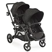 Contours - Options Elite Tandem Double Baby Stroller, Multiple Seating Configurations and Lightweight Frame - Carbon Gray