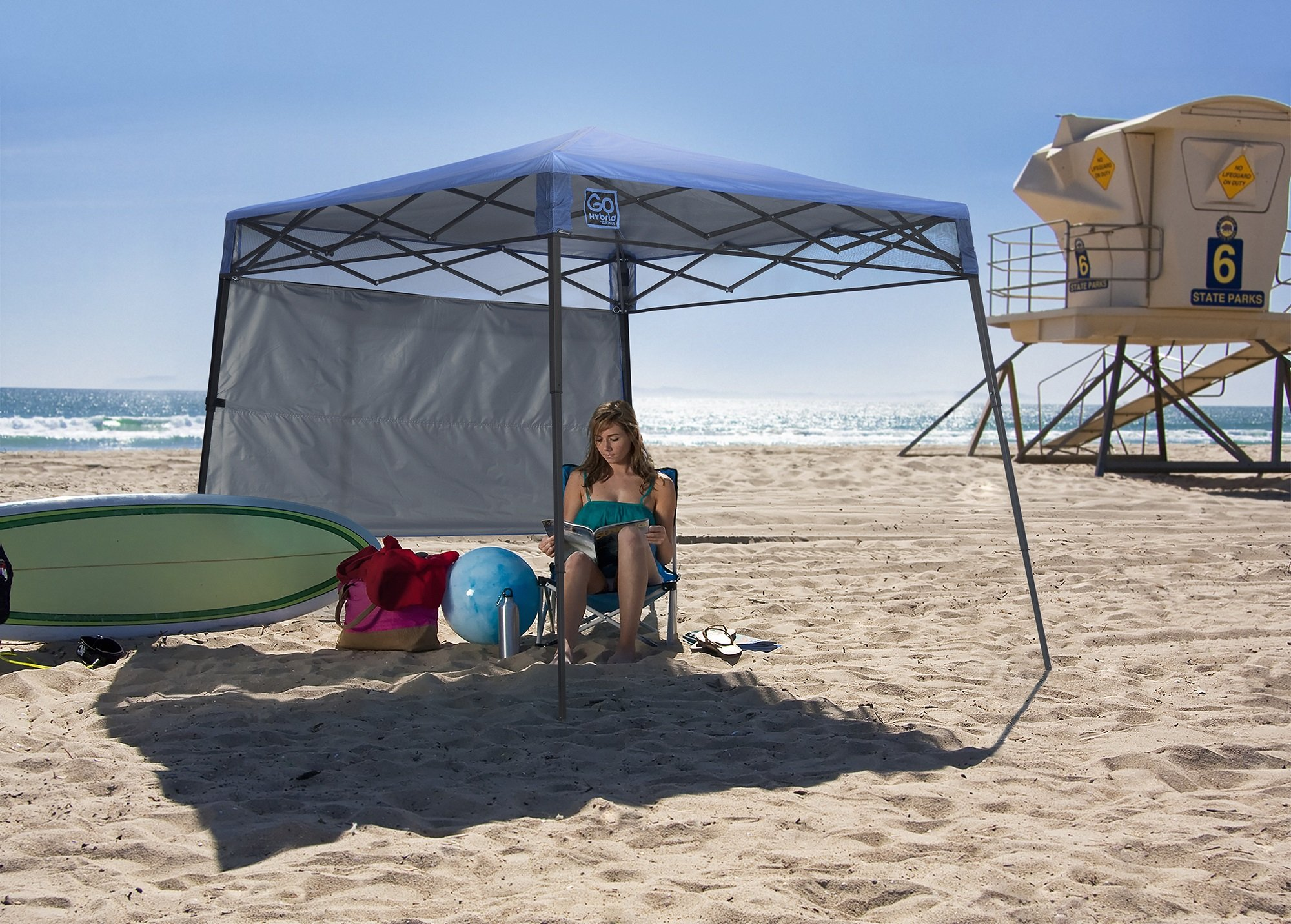 Quik Shade GO Hybrid Compact Slant Leg Backpack Canopy, Blue, 7 x 7-Foot by Quik Shade Pets (Image #8)