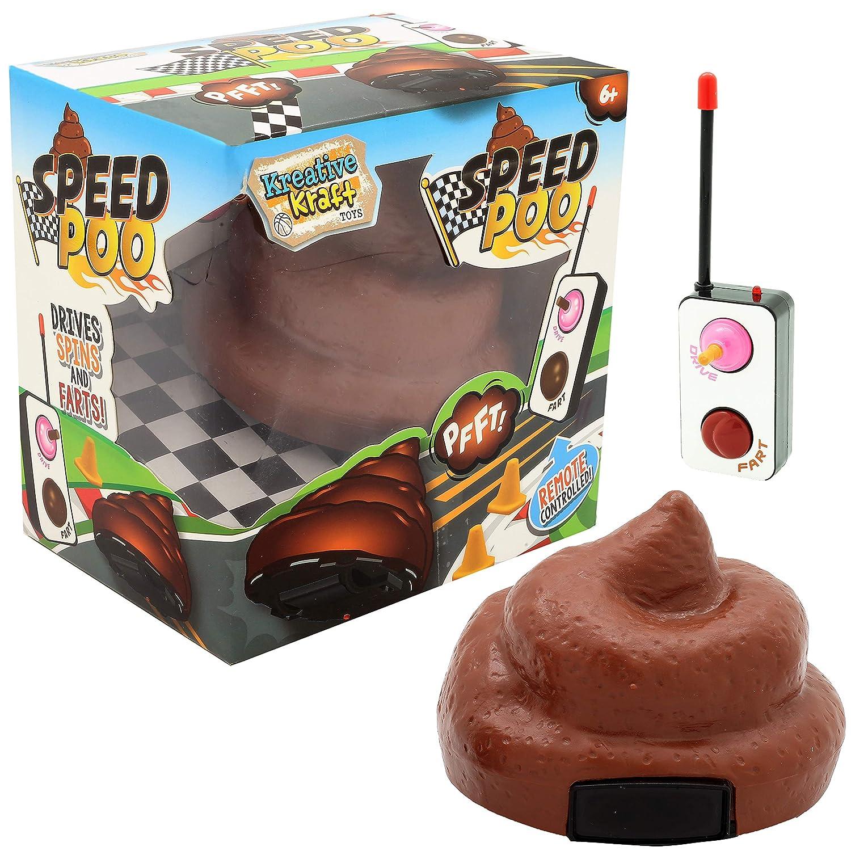 KreativeKraft Speed Poo Cacca Telecomandata Gioco della Cacca Giochi Festa per Bambini R.M.S.I