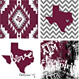 Thirstystone 4-Piece Texas A&M University Spirit A/4 Coaster Set