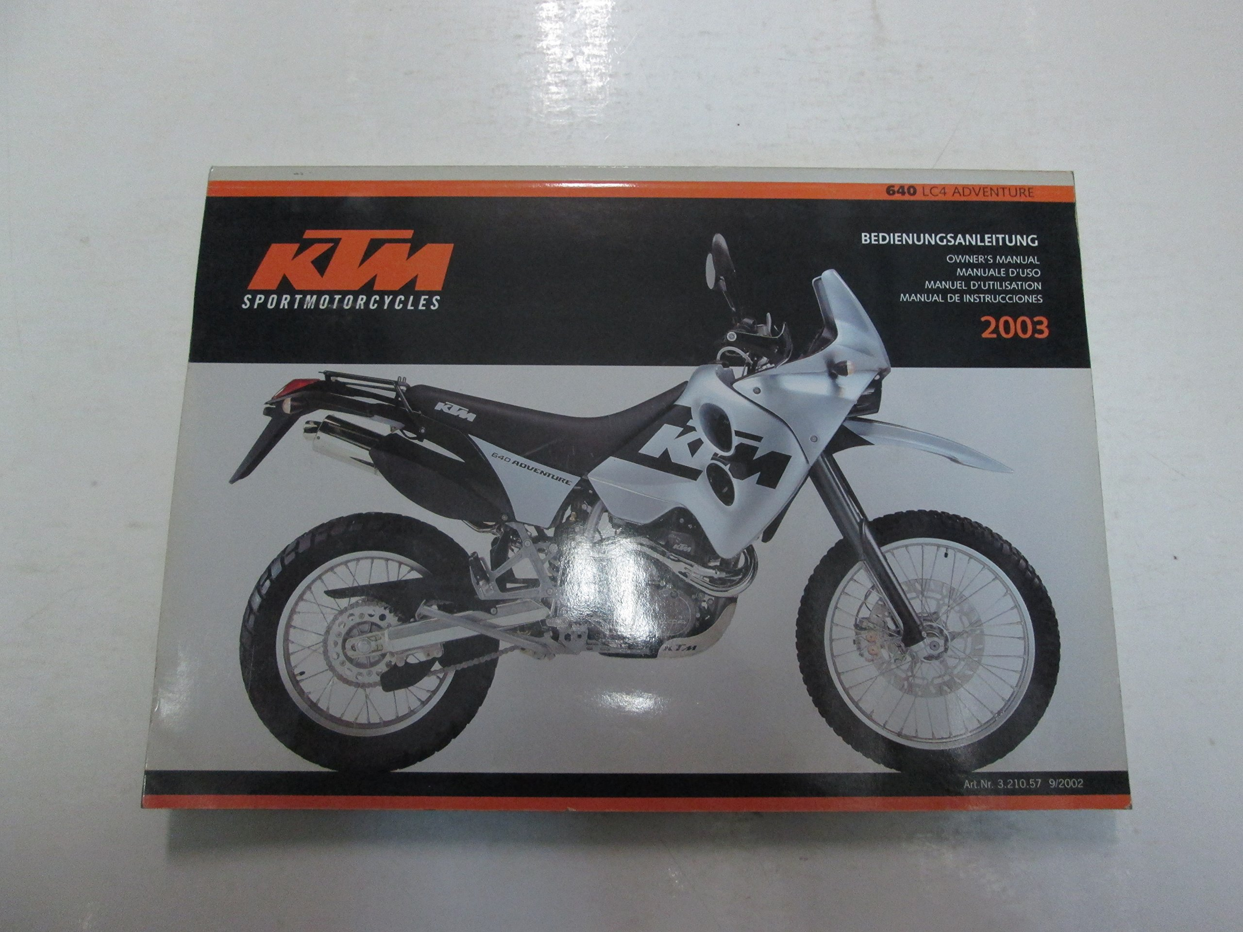 2003 KTM 640 LC4 Adventure Owners Manual MINOR WEAR FACTORY OEM BOOK 03  DEAL ***: KTM: Amazon.com: Books