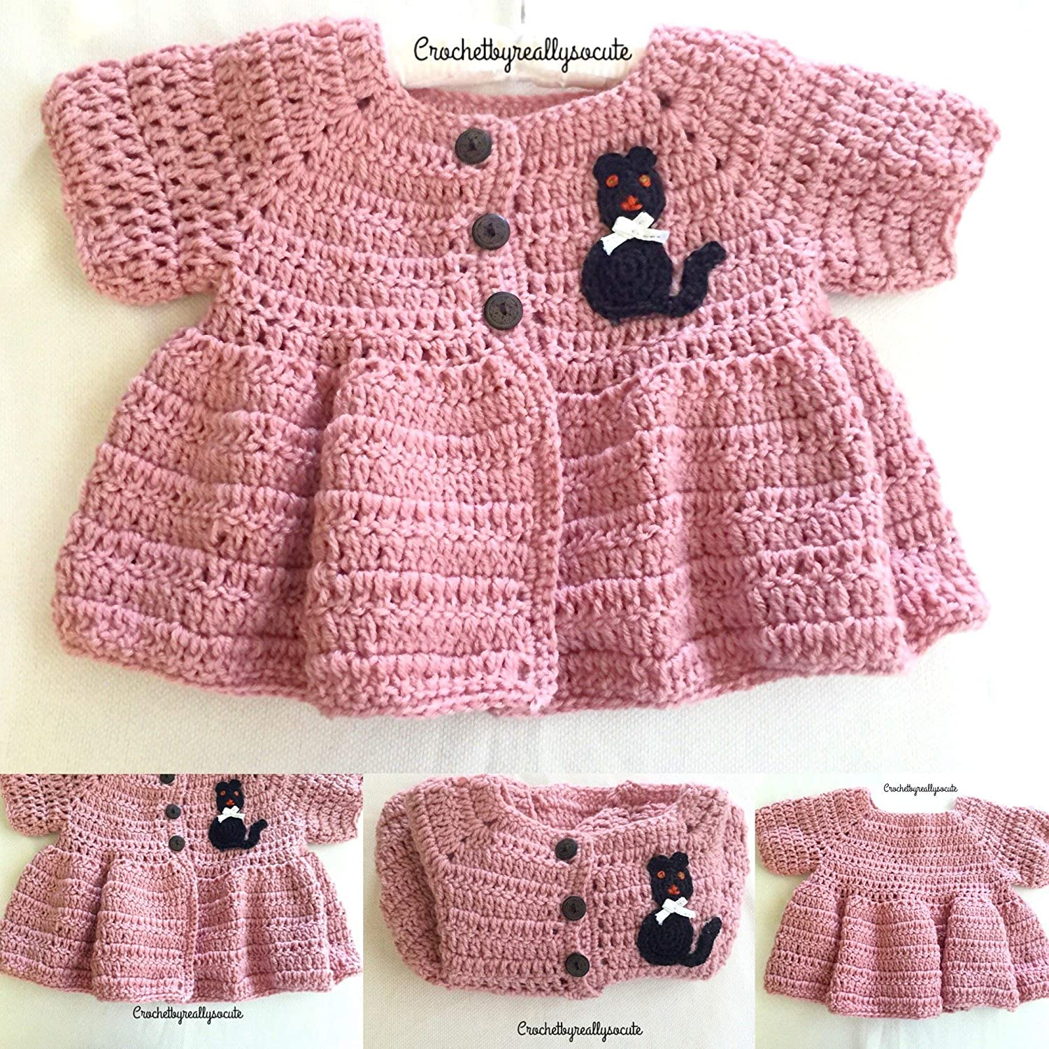 58735915f98 This handmade Peplum style cardigan is a timeless staple in any little  girls  wardrobe. Perfect to dress it up over a sundress on any day