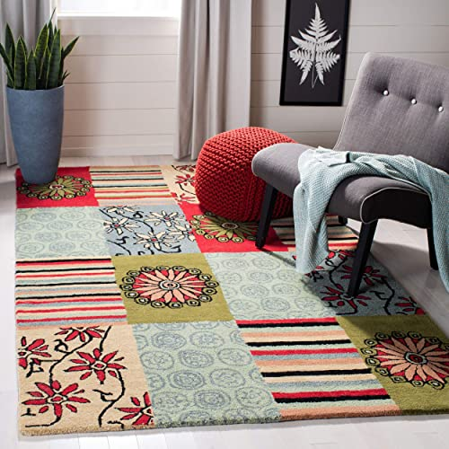 Safavieh Soho Collection Handmade Multicolored Premium Wool Area Rug 7 6 x 9 6
