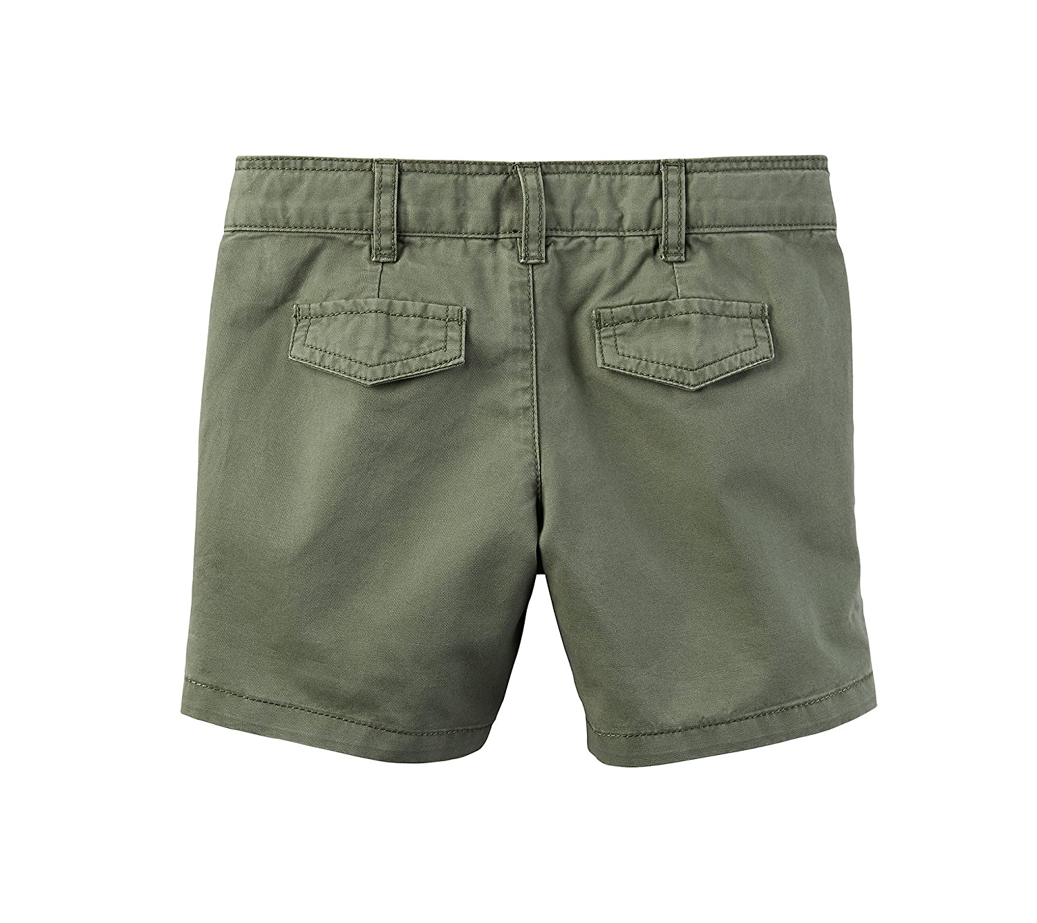 Carters Girls 2T-8 Roll Cuffed Shorts Olive 7