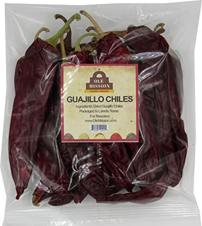 Dried Guajillo Chiles 1 lb Bag - Great For Cooking Chilli Sauce, Chili Paste,