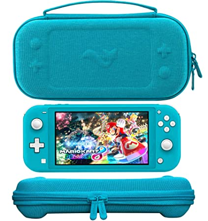 ButterFox Premium Slim Case for Nintendo Switch Lite with 19 Game and 2 Micro SD Card Holders, Storage for Switch Lite Accessories - Turquoise Blue