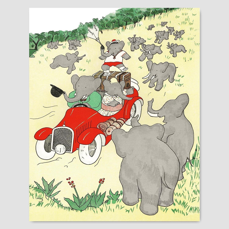 51 Christening \u2013 Delightfully Amusing Children\u2019s Art Babar the Elephant Original Vintage Print \u2013 Baby Shower \u2013 Nursery Art
