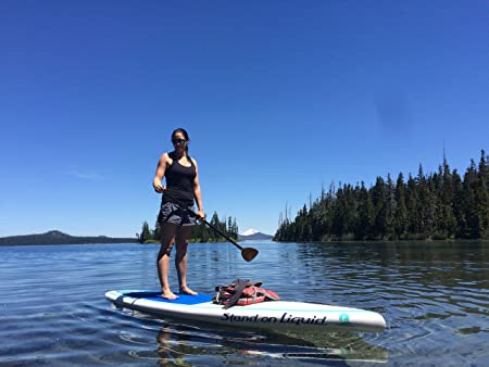 Amazon.com : Stand on Liquid Chelan 12 Foot Touring Stand Up Paddle Board (SUP) Package | Includes Full 100% Carbon Adjustable Paddle, Cargo Nets, ...