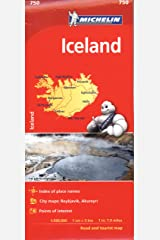 Michelin Iceland Map 750 (Michelin Map) Map