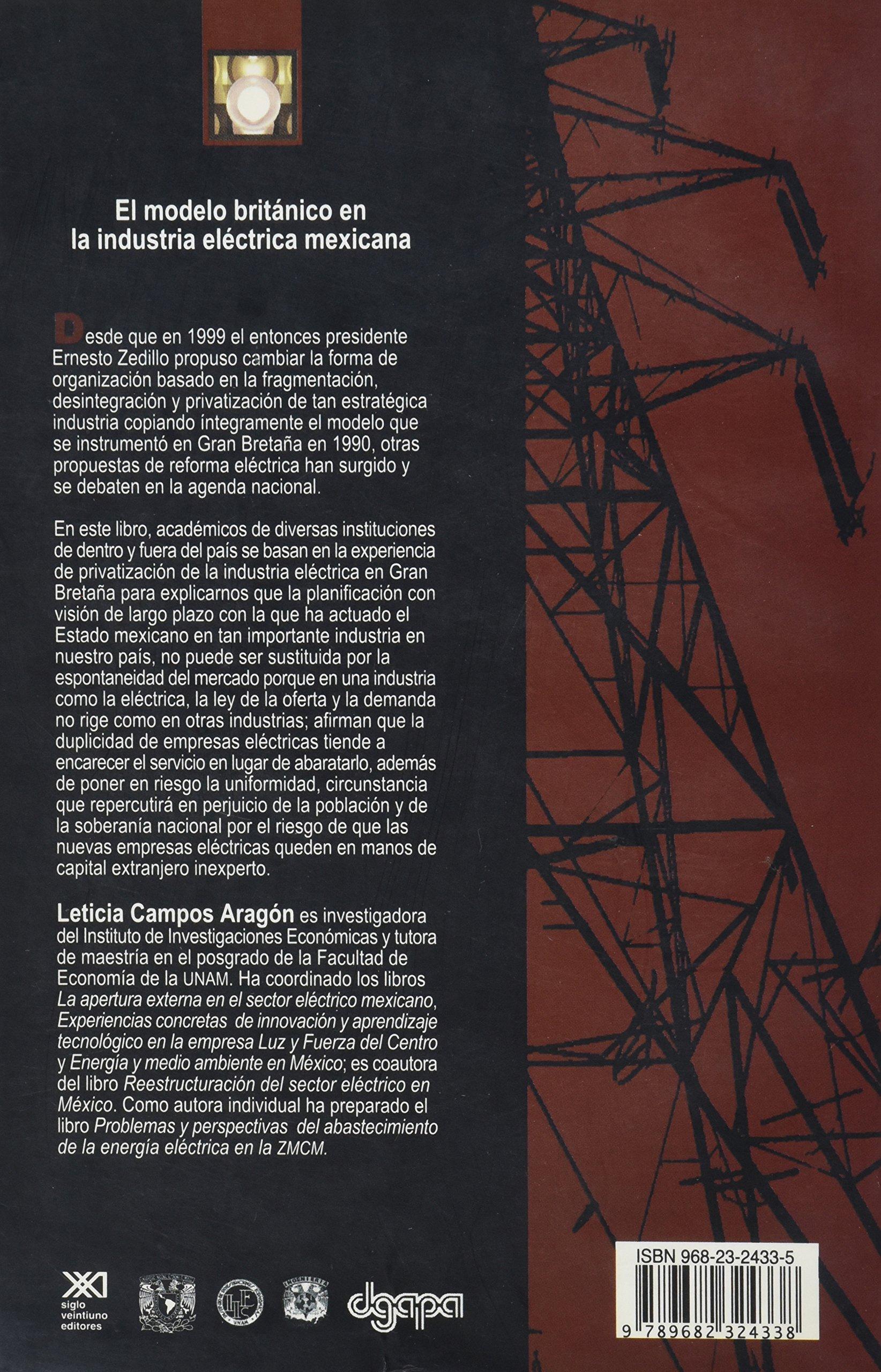 Modelo britanico en la industria electrica mexicana (Spanish ...