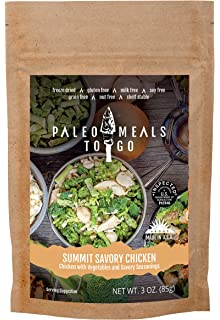 Summit Savory Chicken Gluten Free Freeze Dried Paleo Meal For Backpacking And Camping