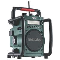 Metabo Akku-Baustellenradio RC 14.4-18V/robustes Outdoor Radio mit Ladefunktion für Li-Power Akkupacks oder Netzbetrieb/Akku Betrieb bis zu 31 Stunden/spritzwasserfest & funktional