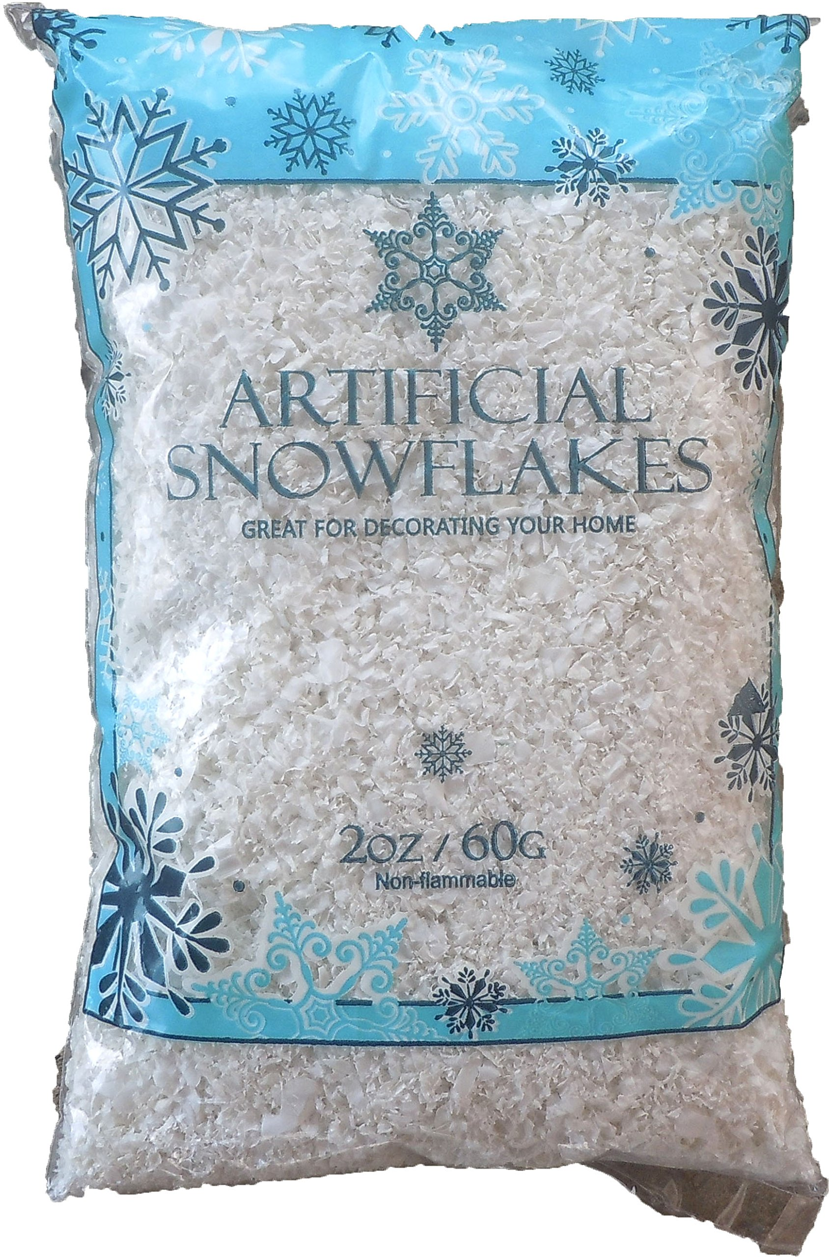 Galleon snow artificial flakes oz bag blue printed