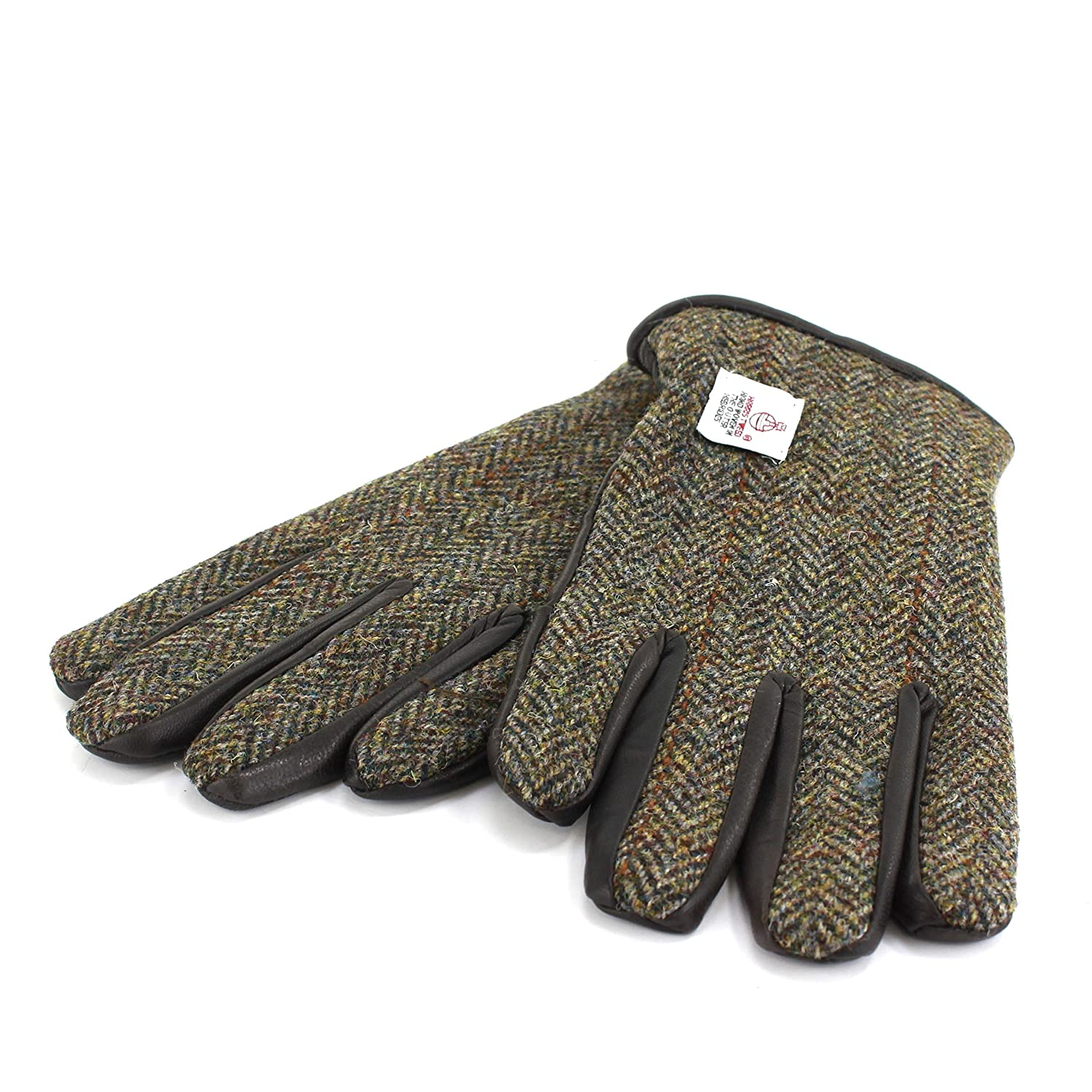 Harris Tweed glove with Genuine Leather Palms